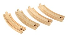 BRIO Large curved tracks 33342 Woorden Railway Extra Track | Wooden Toy