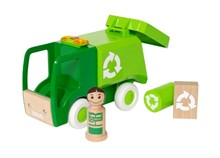 BRIO My Home Town - Light & Sound Garbage Truck 30278 Wooden Railway Acessory