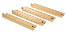 BRIO Long straight tracks 33341 Extra Track for Wooden Railway | Wooden Toy