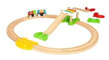 BRIO My First Railway Beginner Pack 33727 Toddler Wooden Train Set | 33727
