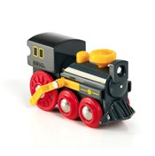 BRIO Push-along Old Steam Engine 33617 for Wooden Train Set | 33617