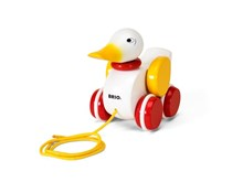 BRIO Pull-along Duck (white) 30323 Toddler Toy | 30323