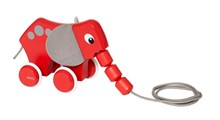 BRIO Pull Along Elephant 30186 Toddler Pull Along Wooden Toy | 30186