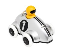 BRIO Push & Go Racer Silver Special Edition 30232 Toddler Wooden Toy | 30232