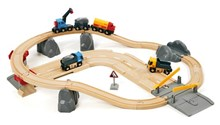 BRIO Rail and Road Loading Set 33210 32 piece Wooden Railway Set - Great Value | 33210