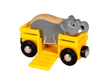 BRIO Safari Elephant & Wagon 33969 accessory for Wooden Train Set | 33968