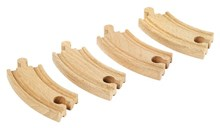 BRIO Short curved tracks 33337 for Wooden Train Set | Wooden Toy