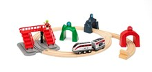 BRIO Smart Tech - Engine Set with Action Tunnels 33873 Automated Wooden Train | BRIO 33783