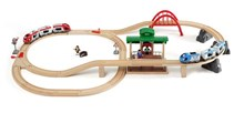 BRIO Travel Switching Set 33512 42 Piece Powered Wooden Train Set - Great Value | Wooden Toy
