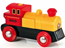 BRIO Two-Way Battery Powered Engine 33594 with Headlight for Wooden Train Set | 33594