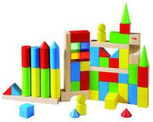 HABA - Coloured Building Blocks 54pc 3551