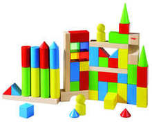 HABA - Coloured Building Blocks 54pc 3551