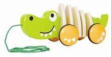 HAPE Walk-Along Crocodile E0348 | Pull along toys