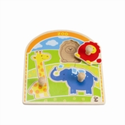 HAPE E1302 At the Zoo Animals Knob Puzzle E1302 | 12 months