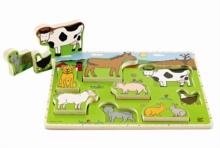 HAPE E1450 Farm Animals Stand Up Puzzle E1450   24 months