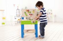 HAPE E3000 Master Workbench wooden work station for little builders   3-5 years