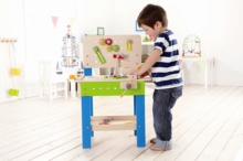 HAPE E3000 Master Workbench wooden work station for little builders | 3-5 years