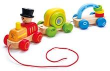 HAPE E0431 Triple Play Train Pull Along E0431 | 1-2 years