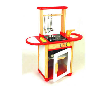 PINTOY - Wooden Kitchen Combo - Red 6553