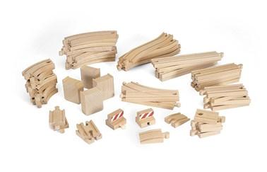 BRIO 50 Piece Track Set 33772 Wooden Railway Extra Track