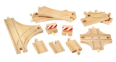 BRIO Advanced Expansion Set 33307 Wooden Railway Extra Track