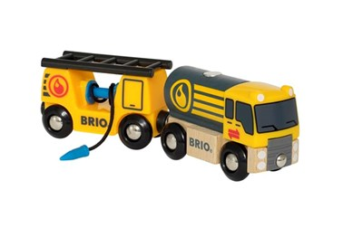BRIO Tanker Truck with Hose wagon 33907