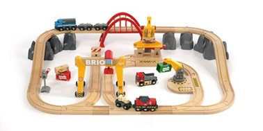 BRIO Cargo Railway Deluxe Set 33097 54 Piece Wooden Railway Set - Great Value