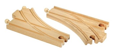 BRIO Curved switching tracks 33346 Wooden Railway Extra Track