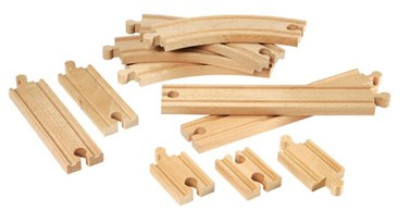 BRIO Beginner Railway Set Expansion Pack 33401 Wooden Raiway Track Extension