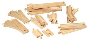 BRIO Intermediate Expansion Pack 33402 Wooden Railway Extra Track