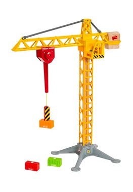 BRIO Light Up Construction Crane 33835 for Wooden Railway Set