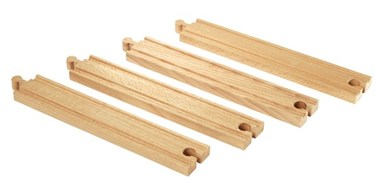 BRIO Long straight tracks 33341 Extra Track for Wooden Railway