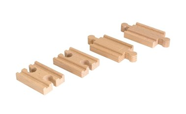 BRIO Mini Straight Track Pack 33393 Wooden Railway Extra Track