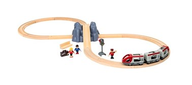 BRIO Railway Starter Set Pack A 33773 Wooden Railway Set for Toddlers