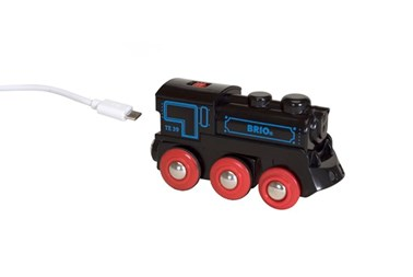 BRIO Rechargeable Engine with Mini USB cable 33599 for wooden railway