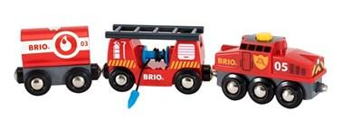 BRIO Rescue Fire Train 33844 for Wooden Train Set