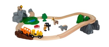 BRIO Safari Adventure Set - 26 Piece Toy Wooden Train Set 33960