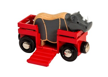 BRIO Safari Rhino & Wagon 33968 accessory for Wooden Train Set