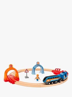 BRIO Smart Tech Sound Action Tunnel Circle Set 33974 14 Piece Train set