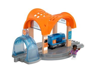 BRIO Smart Tech Sound Action Tunnel Station 33973 Automated Wooden Railway Set