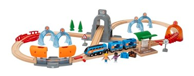 BRIO Smart Tech Sound Action Tunnel Travel Set 33972 37 Piece Train set
