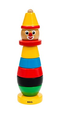 BRIO Stacking Clown 30120 Toddler Stacking Wooden Toy Age 1-2 years