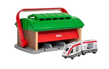 BRIO Train Garage with Handle 33474 for Wooden Railway Set