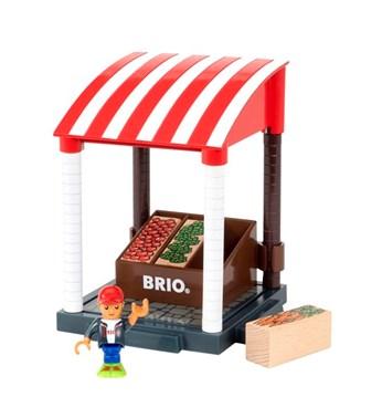 BRIO World Village Market Stand 33946 for Wooden Railway System