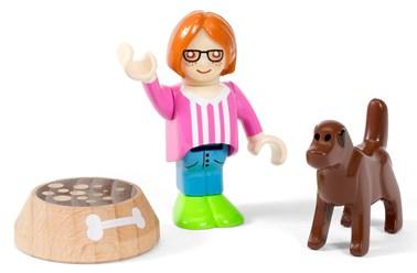 BRIO Village Figure and Dog 33952
