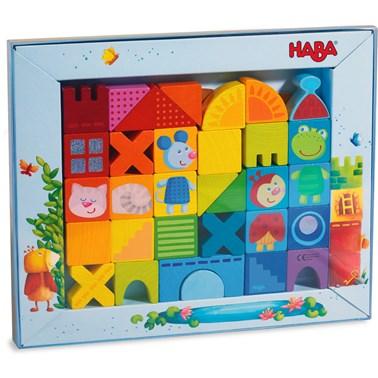 HABA Building blocks Cat, Mouse & Friends  32 piece set 302580