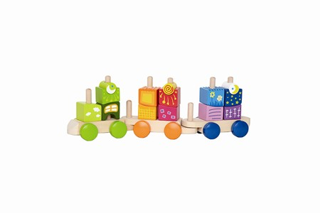 Hape Fantasia Blocks Train E0417