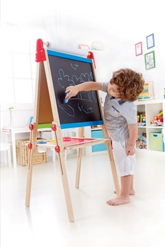 HAPE All-in-1 Easel E1010 Double-sided magnetic White board and Chalk board