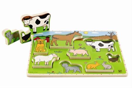 HAPE E1450 Farm Animals Stand Up Puzzle E1450