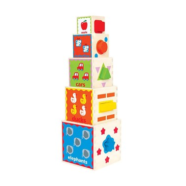 Hape Pyramid of Play E0413 Nesting Block Set for Toddlers